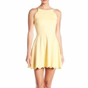 Scallop Halter Dress